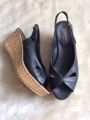 NEUE Sling-Sandalette mit Keilabsatz, Gr 37 - ungetragen