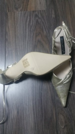 Neue Slingpumps * Gr. 40 * gold * metallic