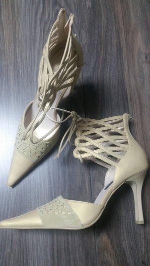 Neue Slingpumps * High Heels * Gr. 39 * gold * metallic