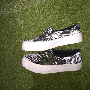 Sneaker verde bosco-bianco