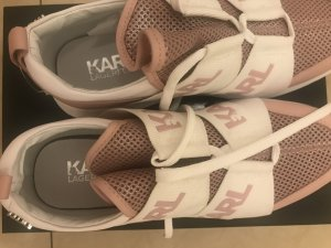 Karl Lagerfeld Slip-on Sneakers rose-gold-coloured textile fiber