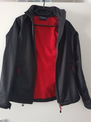 Chaqueta softshell marrón-negro