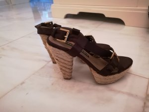 Andrea Conti Platform High-Heeled Sandal dark brown