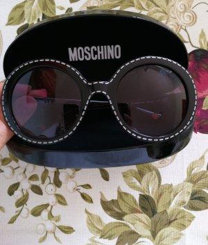 Moschino Ronde zonnebril zwart-wit