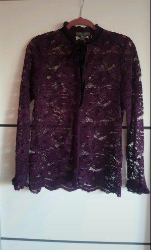 Primark Lace Blouse black-dark violet