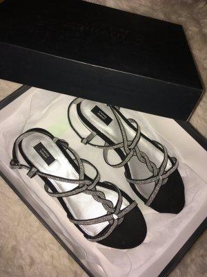Steffen Schraut Strapped Sandals black-silver-colored