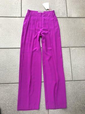 Neue Stella Maccartney Seidenhose 38IT 34 XS Lila PinkSeide weites Bein Designer