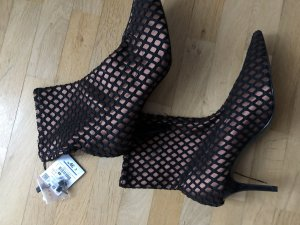 Zara Basic Stivale a gamba corta marrone-nero