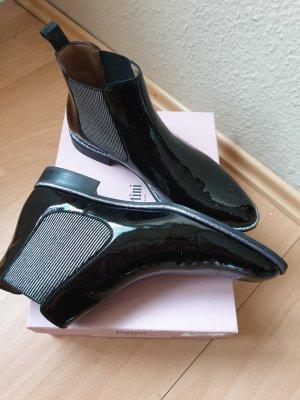neue Stiefelette Lack schwarz Gr. 42 von Pertini