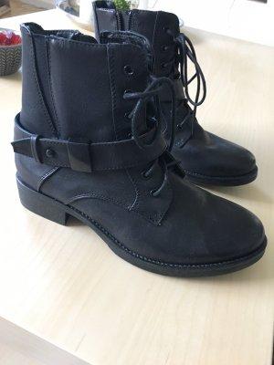 Depeche Bottines à lacets noir