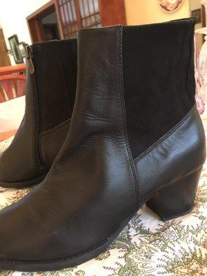 Slip-on Booties dark brown leather