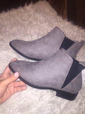 Primark Korte laarzen grijs-zwart