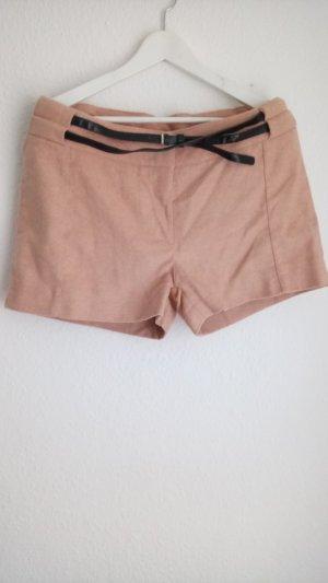 Pantalone corto color carne-albicocca