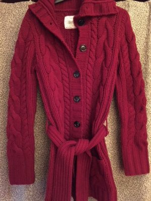 Blaumax Wool Jacket dark red merino wool