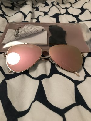 Bershka Aviator Glasses pink-rose-gold-coloured
