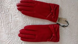 Hobbs Leather Gloves brick red leather