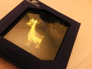 Neue Swarovski Kette mit goldener Kristallgiraffe