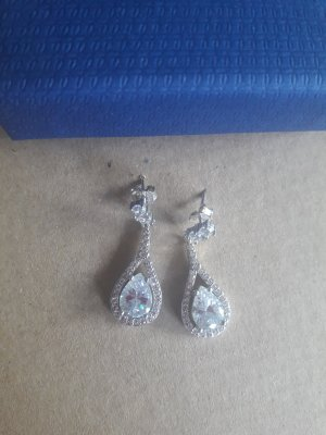 Swarovski Silver Earrings white-silver-colored
