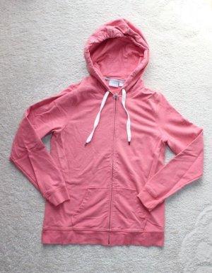 Neue Sweatshirtjacke in rosa