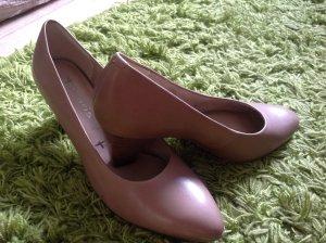 Tamaris Chaussure à talons carrés beige-chameau cuir