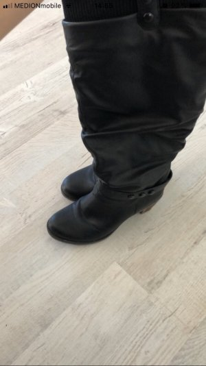 Tamaris Plateauzool Laarzen zwart-bruin