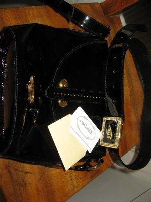 Neue Tasche aus Lackleder+Gürtel m.Swarovskisteinen, ideales Geschenk