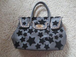 NEUE Tasche grau mit Sternen, Kunstleder, Kopie von Birkin Bag