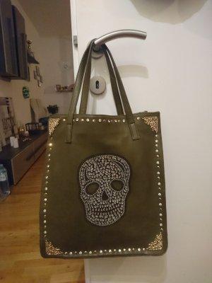 Neue Tasche mit Steinchen armygreen