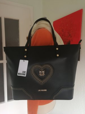 Moschino Shopper noir-doré