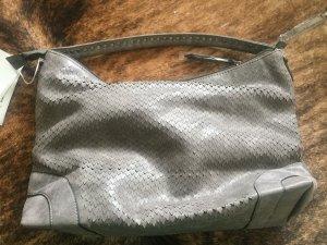 Borsa sacco argento-marrone-grigio Finta pelle