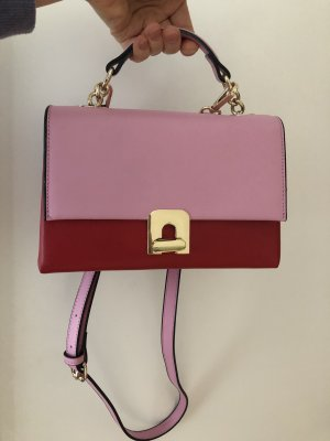 Zara Handbag dark red-pink