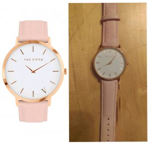 *neue* the fifth uhr in rose