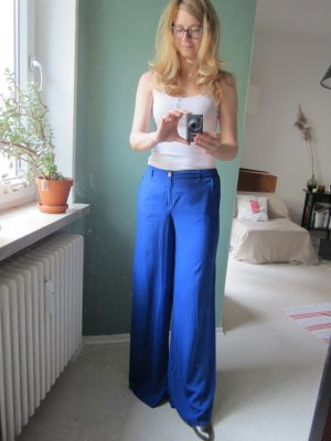Mango Marlene Trousers blue viscose