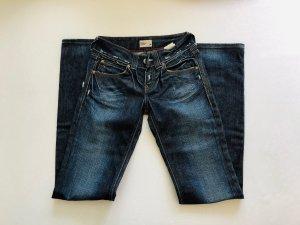 Neue Tommy Hilfiger Sally Flared Jeans w25 L34 dunkelblau