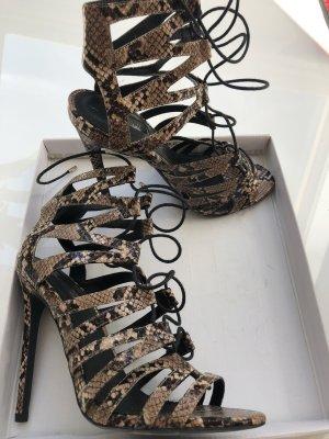 Topshop High Heel Sandal olive green-black