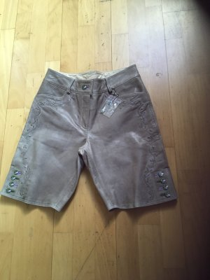 Kaiserjäger Pantalon traditionnel en cuir gris