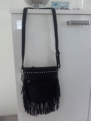 Fringed Bag black-light grey
