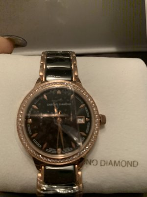 Watch With Metal Strap black-rose-gold-coloured stainless steel