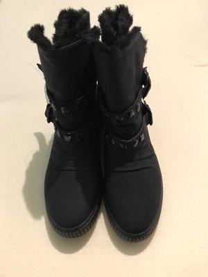 Deichmann Slip-on laarzen zwart