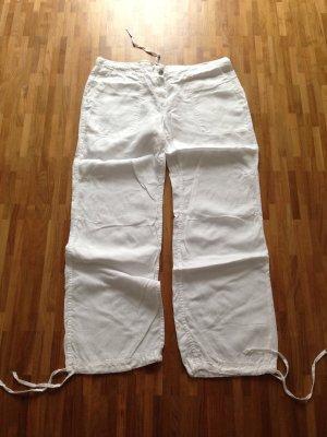 Neue/ungetragene 0039 Italy Leinenhose, weiß, Gr. XL