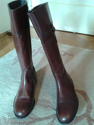 Riding Boots brown-cognac-coloured leather