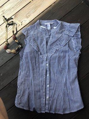 Neue ungetragene Streifen Bluse, Rüschenärmel, Gr. 36