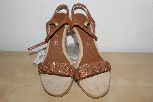 Unisa Wedge Sandals brown-light brown