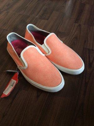 Neue Vans Slip on Pastell Orange Größe 40