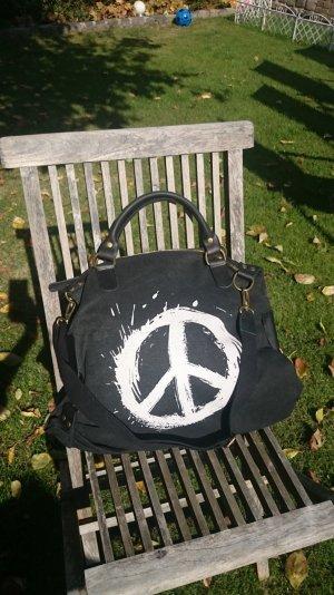 Neue Vera Pelle Tasche mit Peace Zeichen