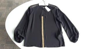 Neue Versace Bluse in schwarz