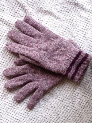 Padded Gloves light pink-pink new wool