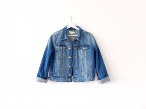 neue washed denim blue H&M Jeansjacke Gr. 40 blau