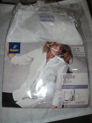 Neue Weisse Bluse, D36, reine Baumwolle, Originalverpackung