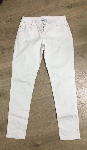 Neue weisse boyfriend Jeans